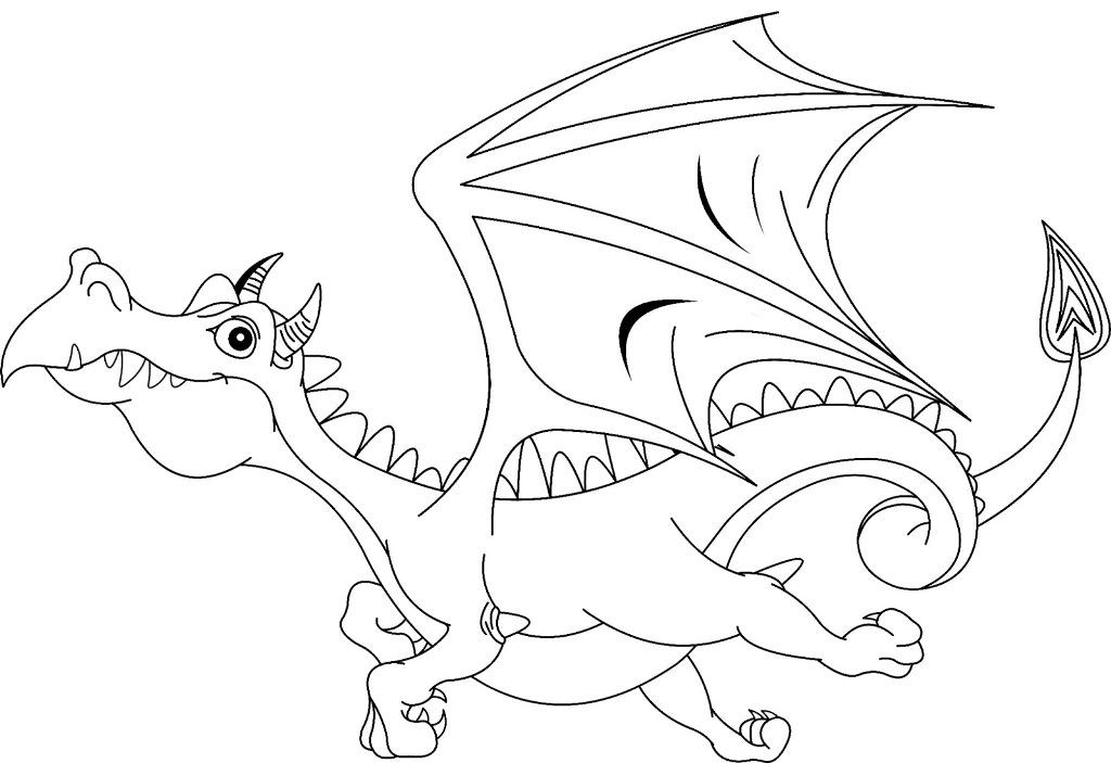 Dragon Coloring Sheets for Boys