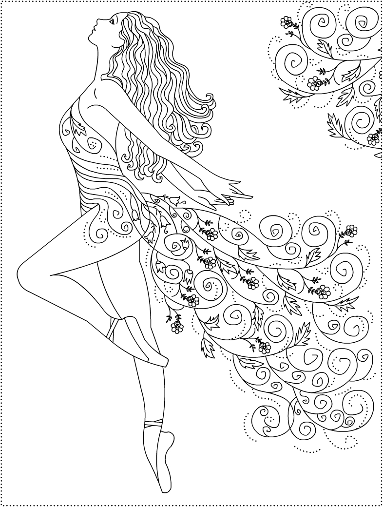Barbie Ballerina Coloring Pages - Coloring Home | 1040x786