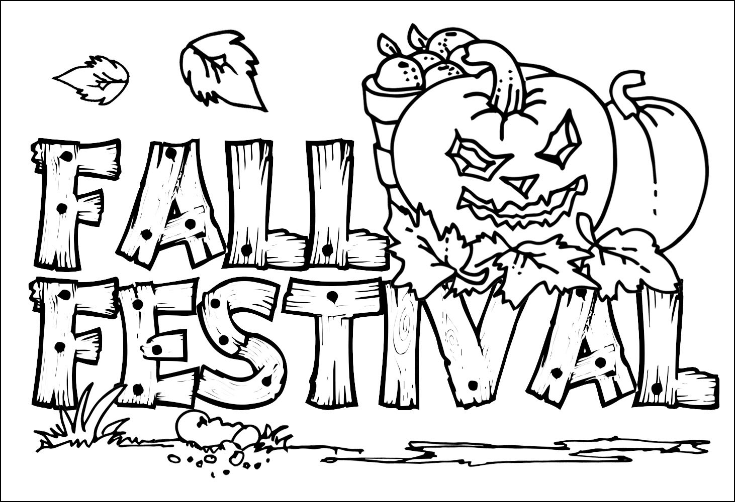 Fall coloring pages 360coloringpages for Fall coloring pages for toddlers