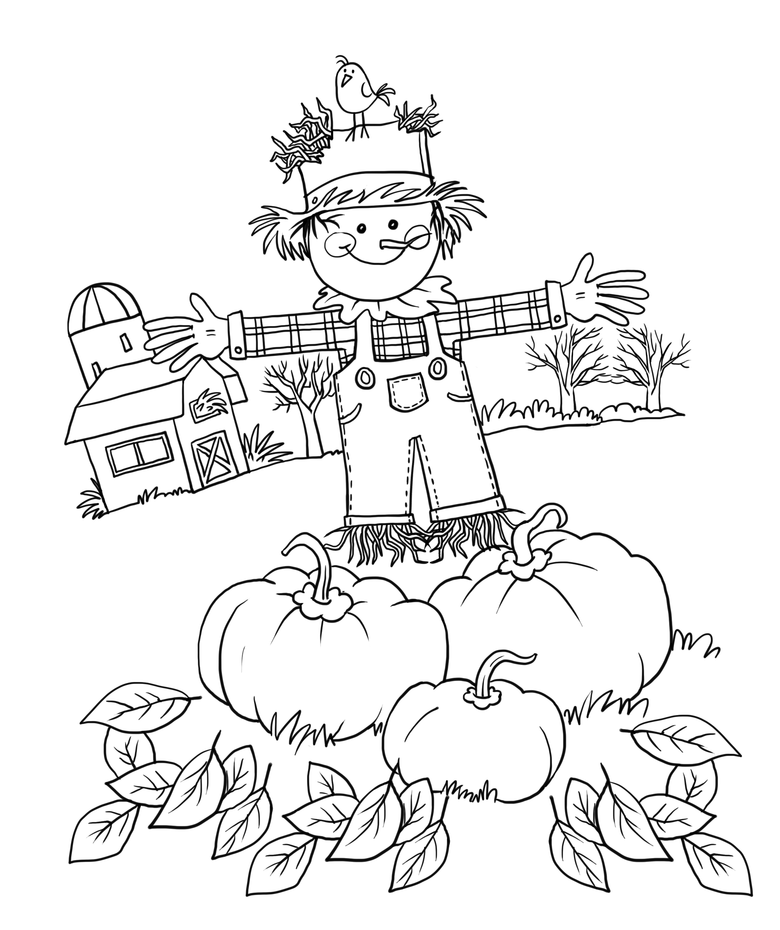 Free coloring pages for first grade - Autumn Fall Coloring Page Free Fall Coloring Pages For Adults