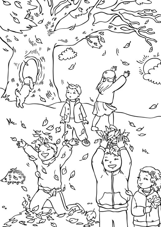 Printable Fall Coloring Pages for Adults