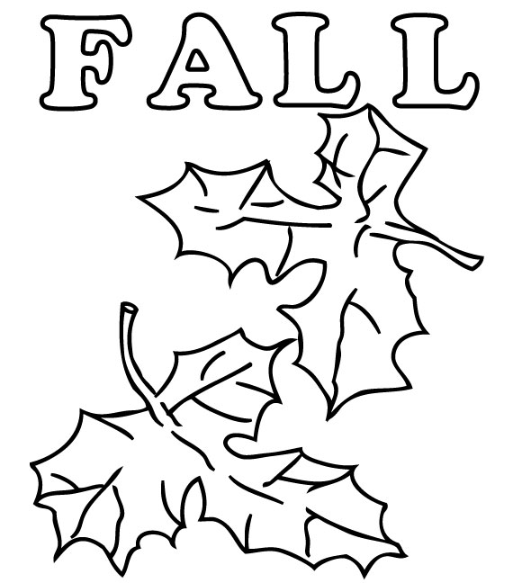 Fall Season Coloring Page Pages Preschool