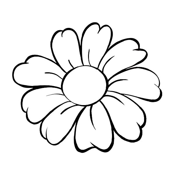 Flower Coloring Pages for Kindergarteners