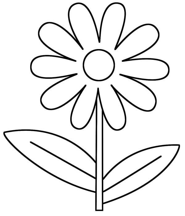 Flower Coloring Pages for Preschool