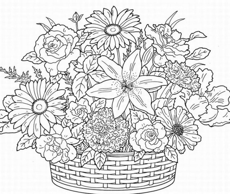 Flower Coloring Pages | 360ColoringPages
