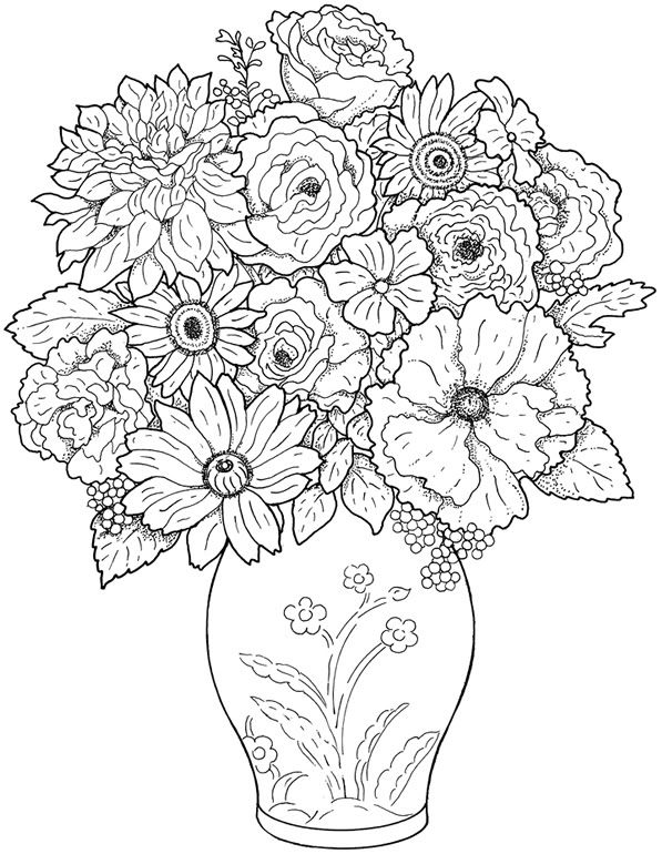 Flower Coloring Sheets for Adults