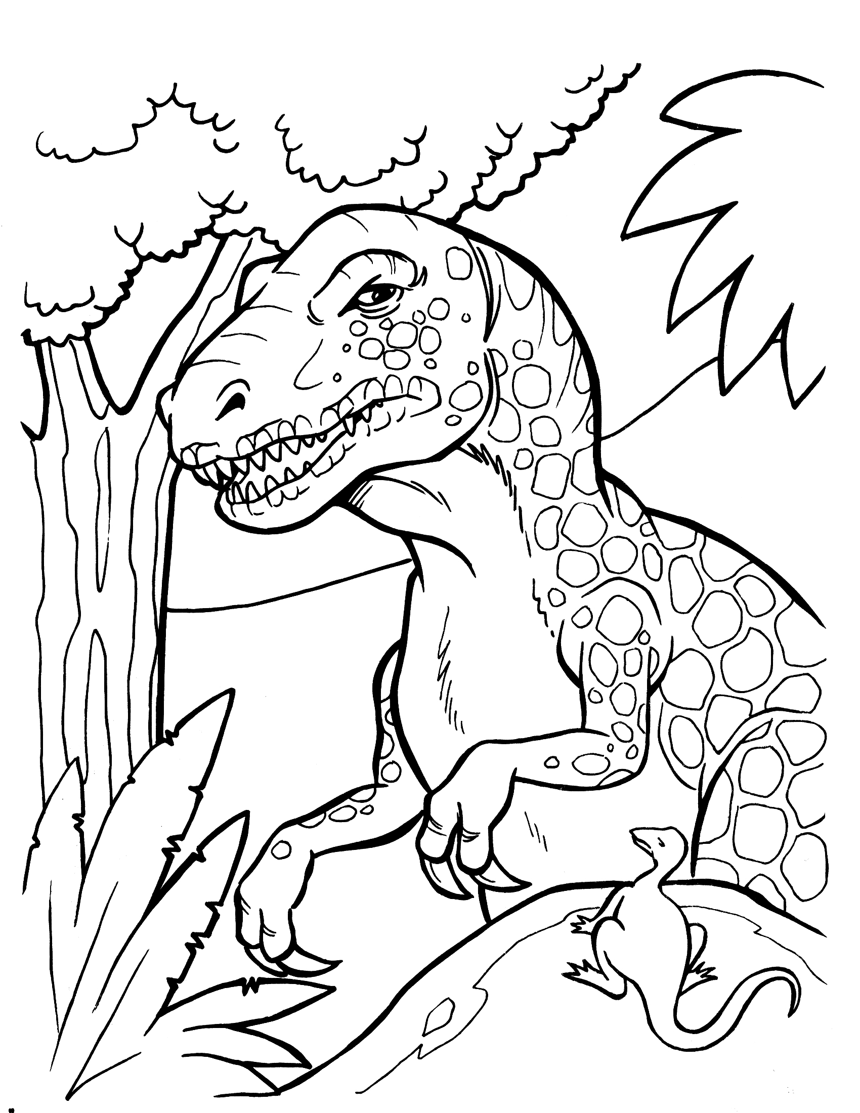 Dinosaur coloring pages 360coloringpages for Free printable cartoon coloring pages