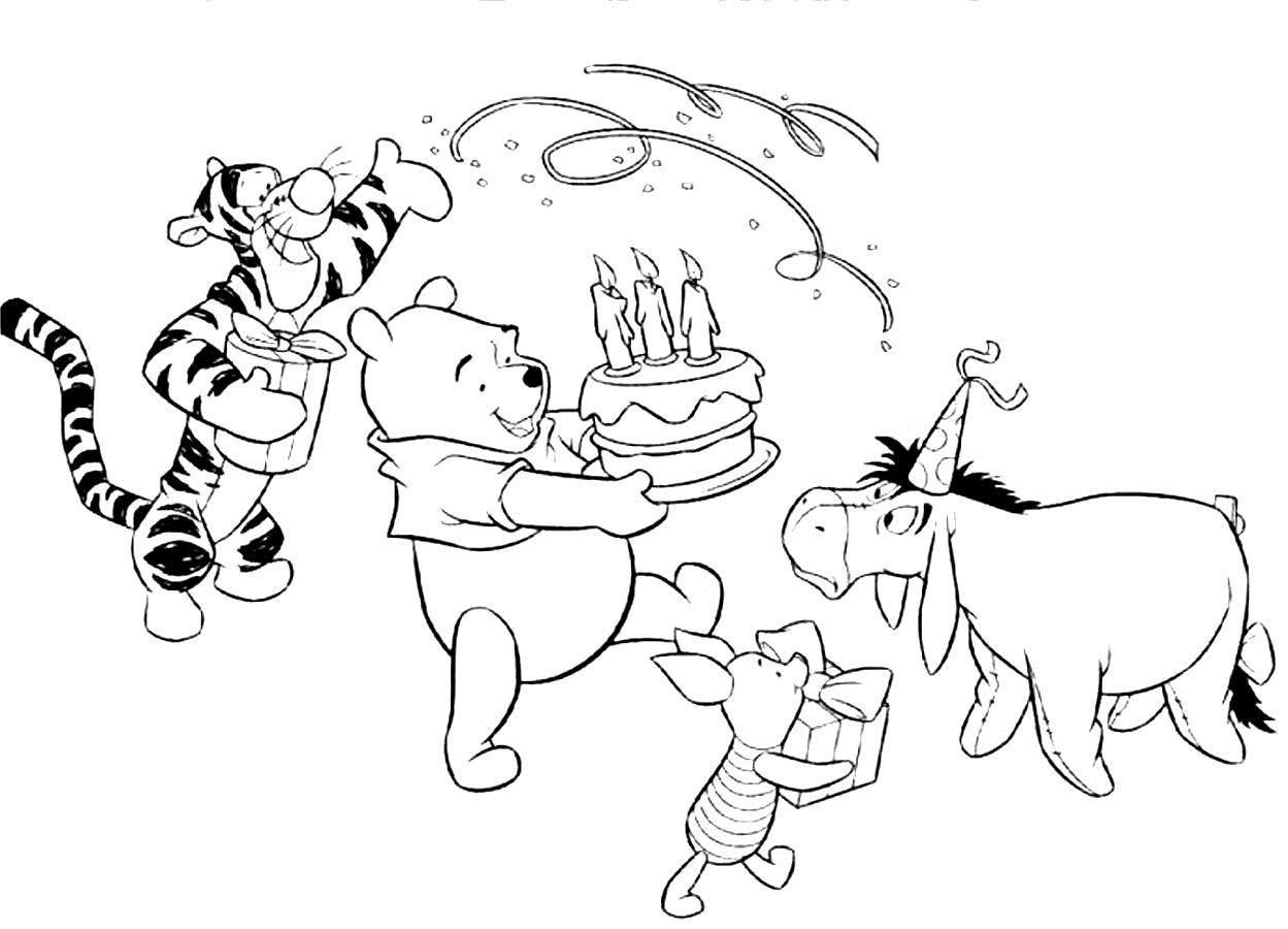 Happy Birthday Coloring Page Free Printable