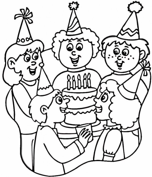 Happy Birthday Coloring Pages | 360ColoringPages