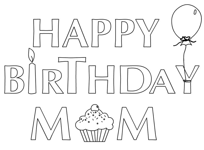 Coloring Pages Happy Birthday Sister