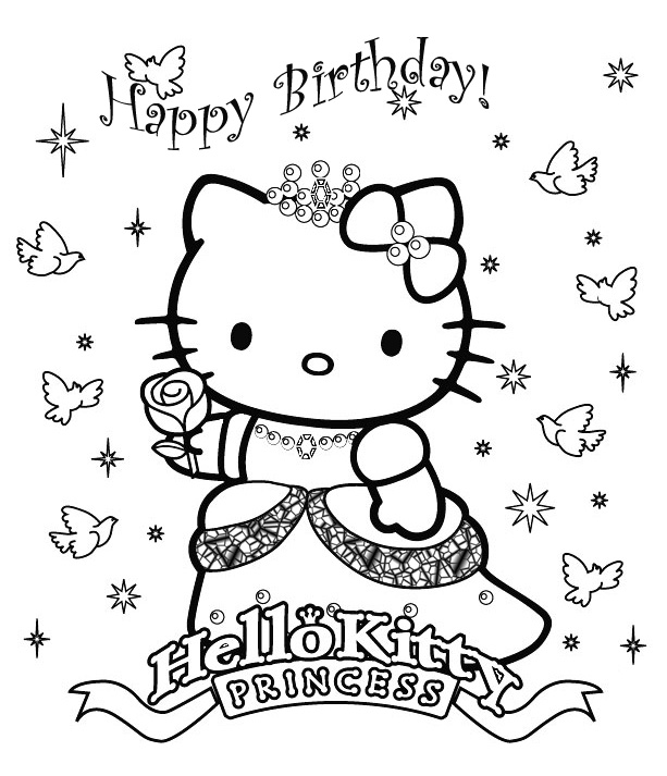 Happy Birthday Coloring Pages 360coloringpages Happy Birthday Coloring Pages
