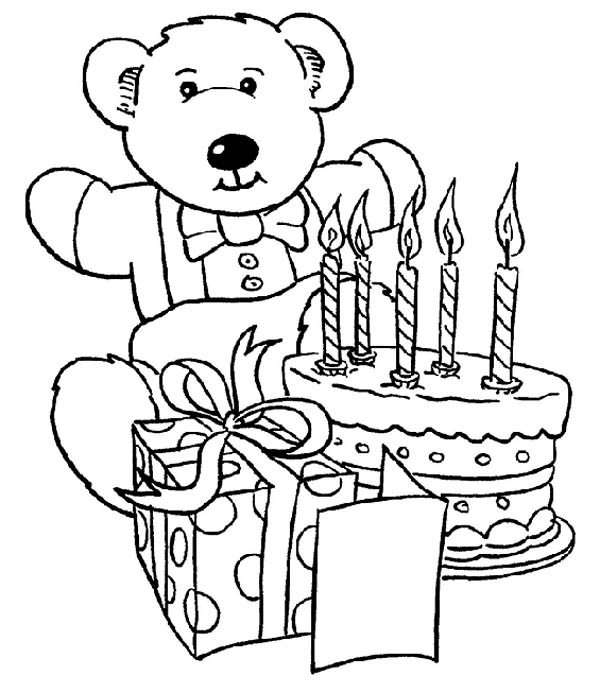 Happy birthday coloring pages 360coloringpages for Birthday coloring page