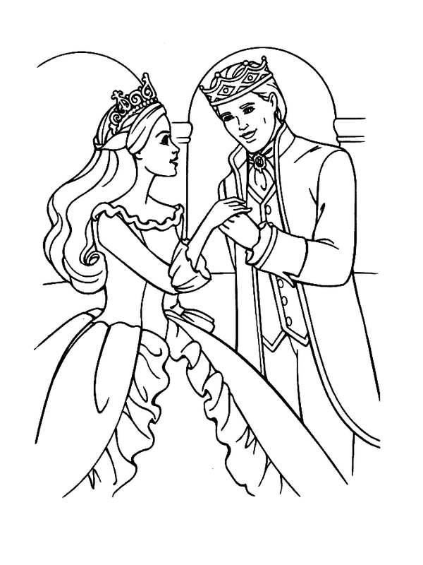 Free Printable Barbie Coloring Page Princess Sheets