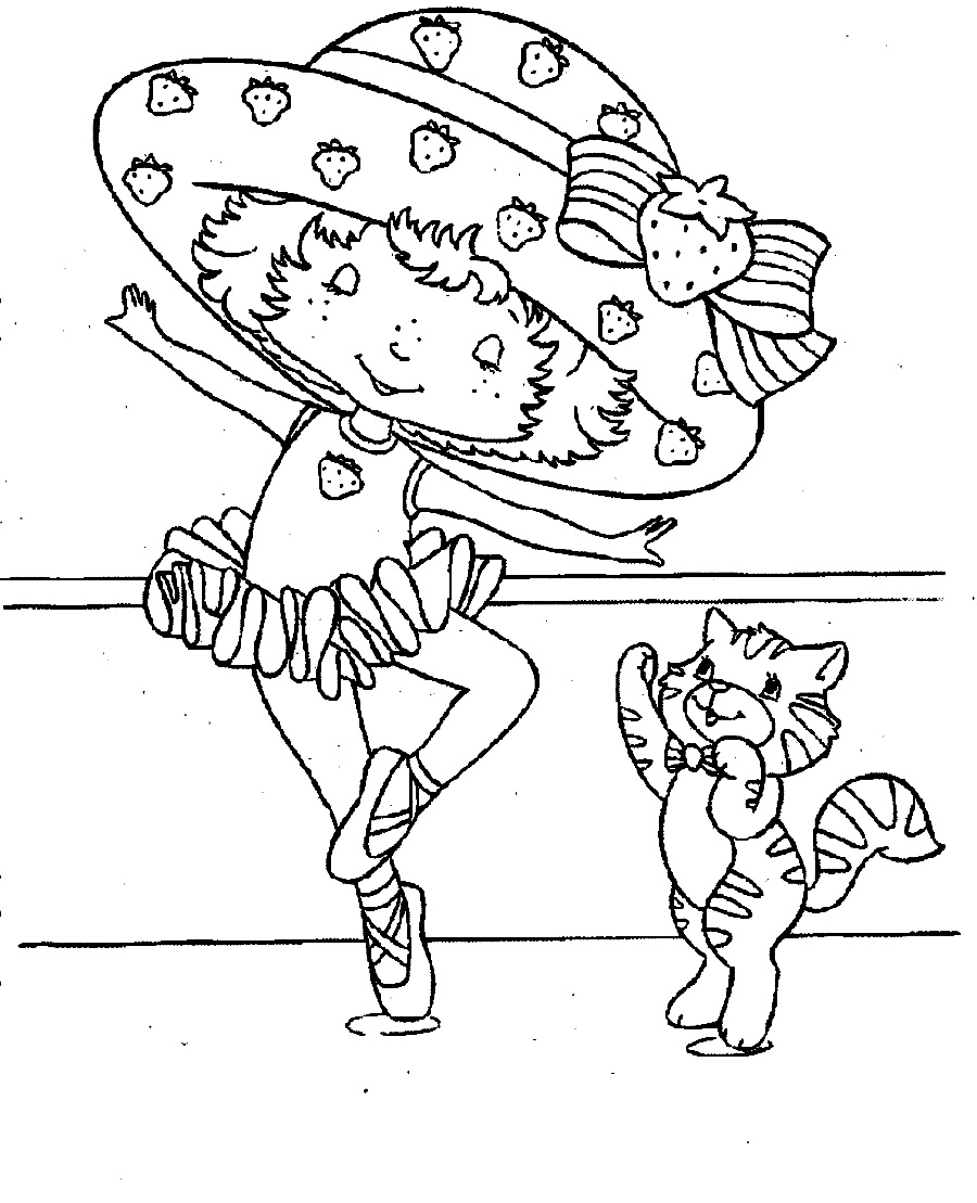 Ballerina Strawberry Shortcake Coloring Pages