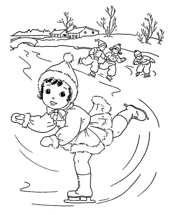 Printable Winter Coloring Page Pages For Adults