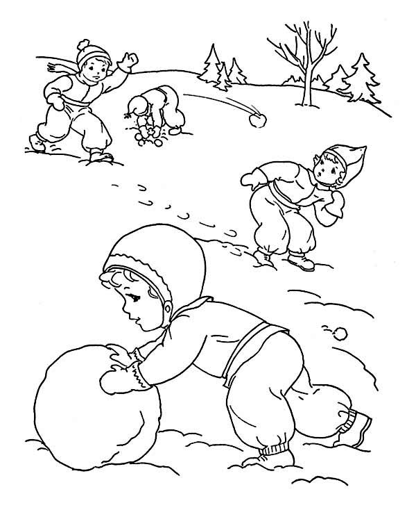 Free Printable Winter Coloring Page Pages