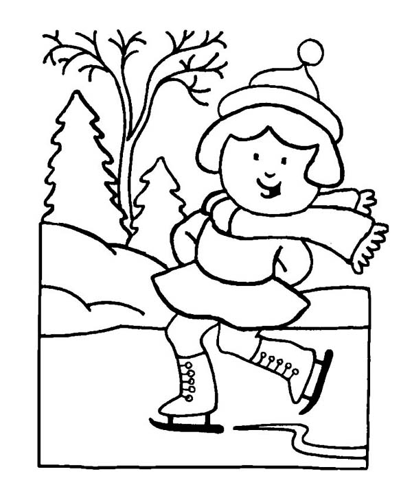Winter Coloring Pages for Kindergarteners