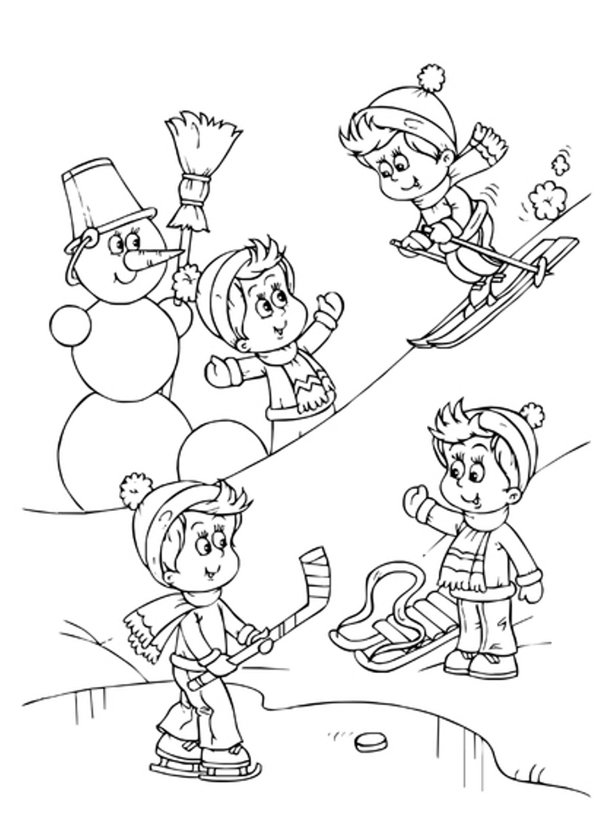 Winter Coloring Pages | 360ColoringPages