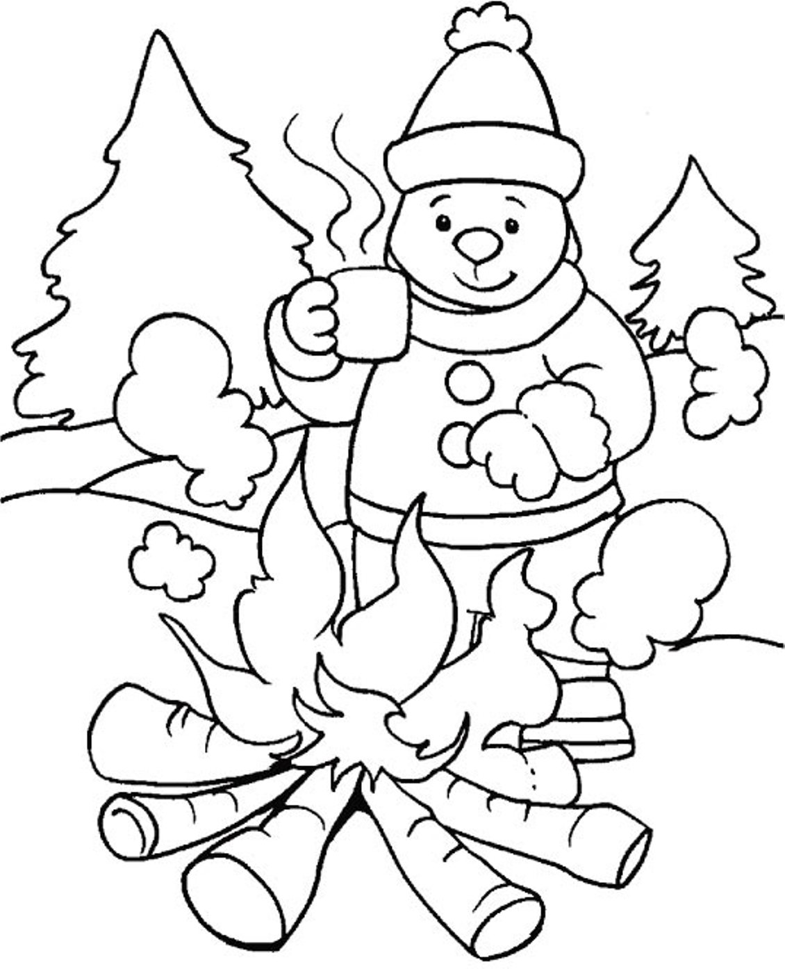 seasonal coloring pages winter coloring pages 360coloringpages