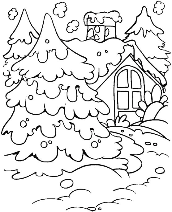 Winter Coloring Pages Snow