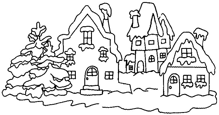 Winter Coloring Pages Wonderland