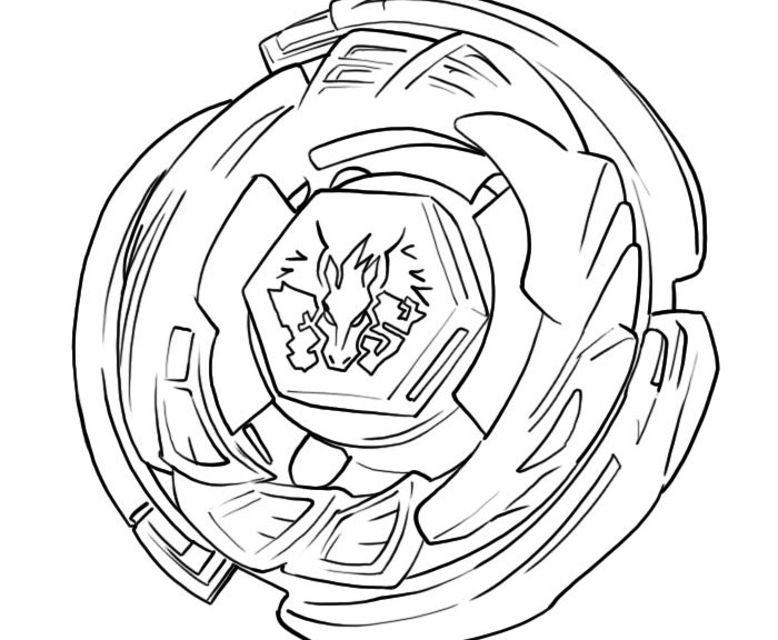 Beyblade Coloring Sheet