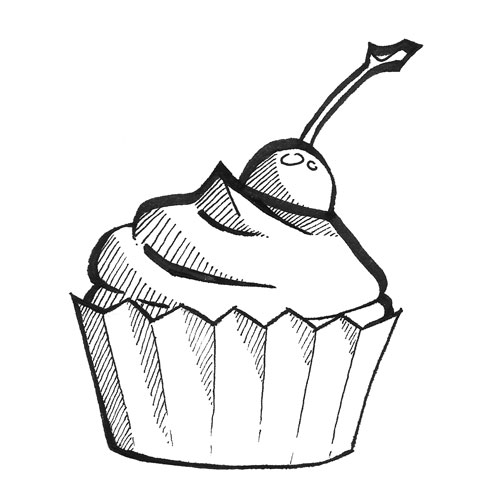 Printable Cupcake Coloring Sheets