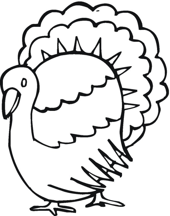 Roast Turkey Coloring Pages