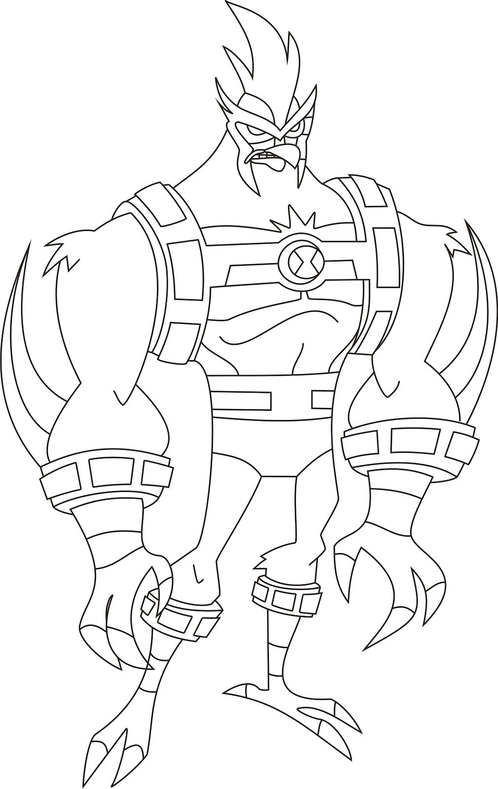 This is a picture of Smart ben 10 coloring sheets