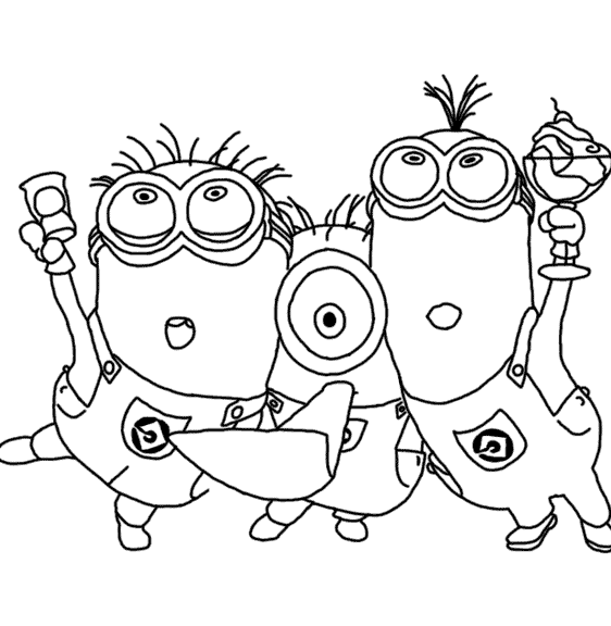 Despicable me coloring pages 360coloringpages for Despicable me coloring pages printable