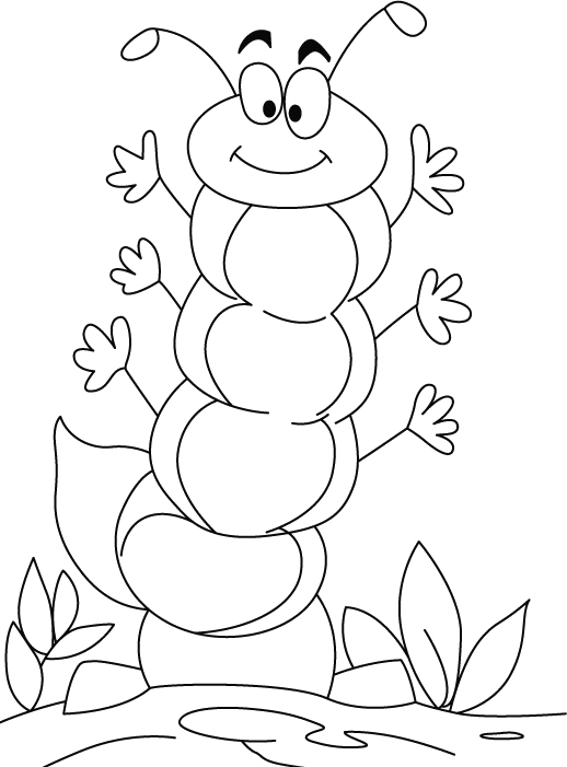 Caterpillar Coloring Pages 360coloringpages