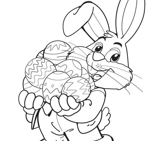 Easter Printable Coloring Pages Perfect Free Bunny Sheet Intended E