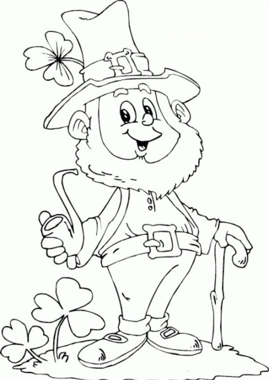 It is an image of Leprechaun Printable Coloring Pages regarding boy