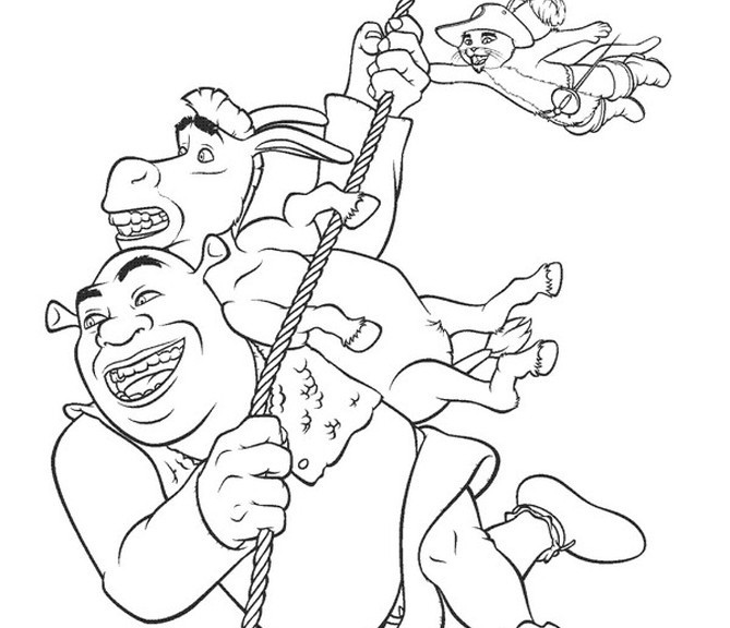Printable Shrek Coloring Sheets