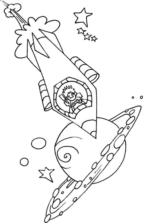 space rocket coloring pages - 600×932