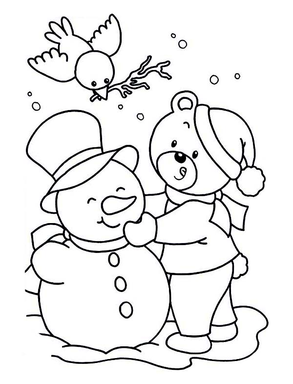 It is a graphic of Comprehensive Free Snowman Coloring Pages