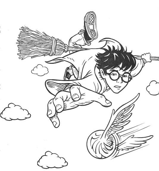 Free Harry Potter Coloring Pages Quidditch