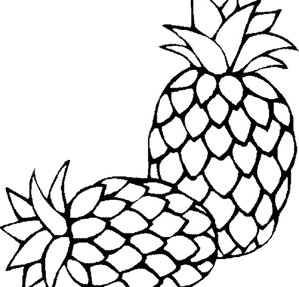 Free Pineapple Coloring Sheets