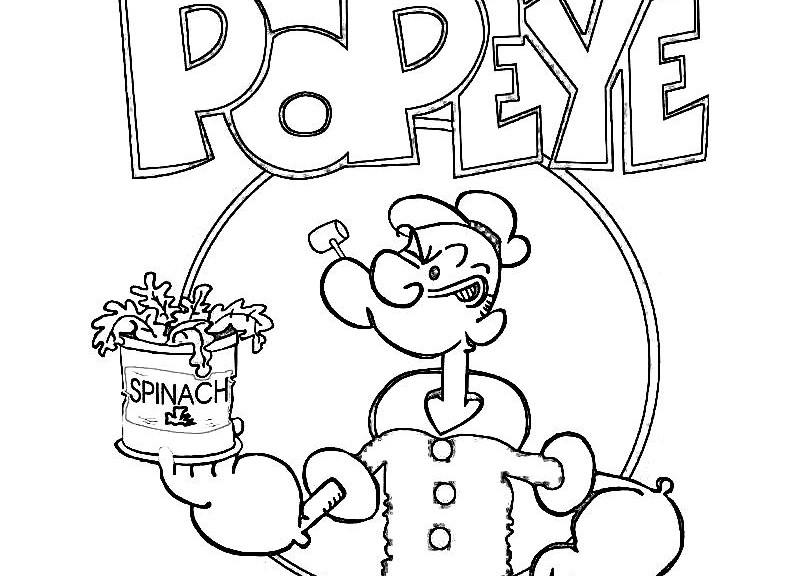Popeye Coloring Pictures Printable