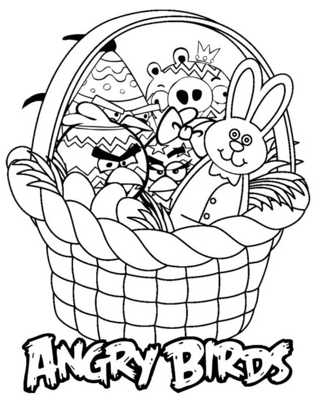 Print Angry Birds E Coloring Pages