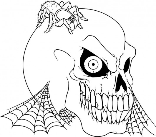 Printable Skull Coloring Sheets for Adults