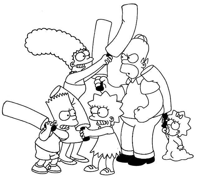 Simpsons Coloring Pages for Kids