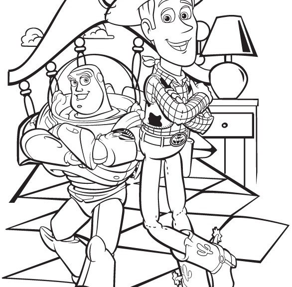 Toy Story Buzz and Woody Coloring Pages