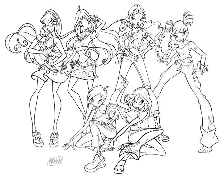 Winx Pictures to Color