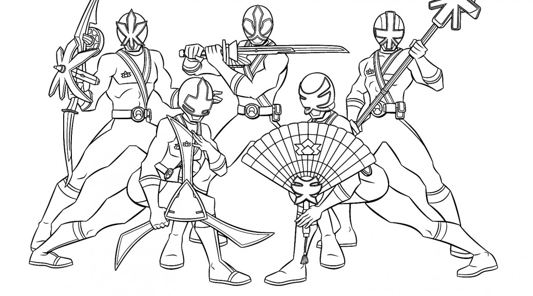 Power Rangers Coloring Page