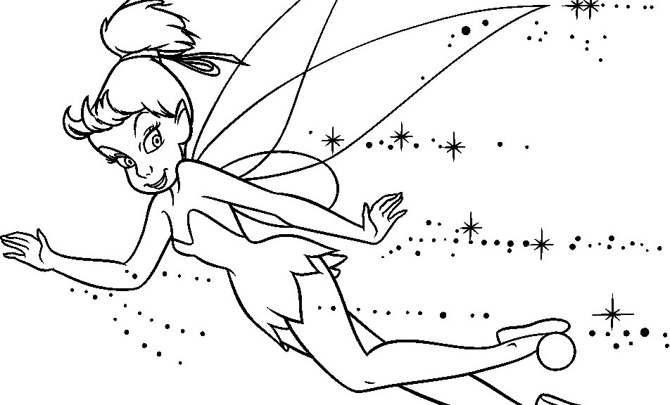 fairy tale coloring page - tinkerbell coloring pages 360coloringpages