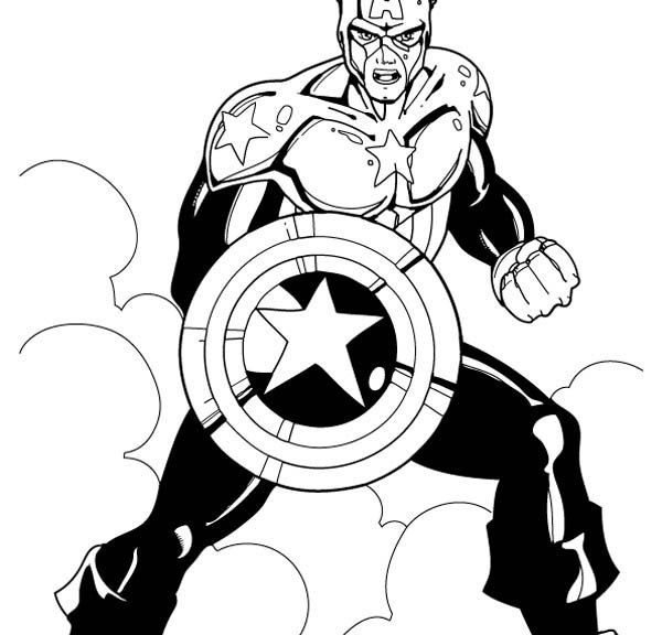 Free Captain America Coloring Pages to Print