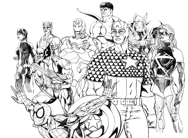 wasp avengers coloring pages - photo#32