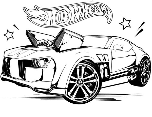 Hot Wheels Coloring Pages Free Printable
