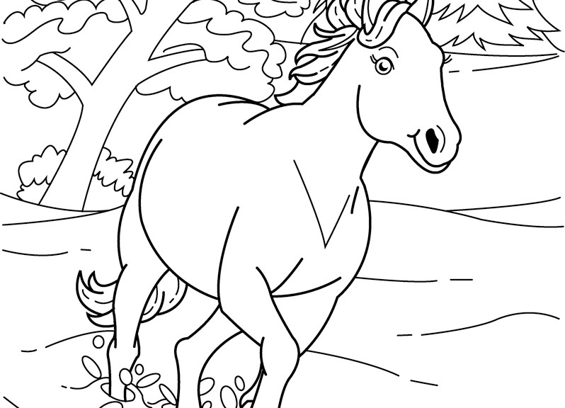 Horse Coloring Sheets Printable